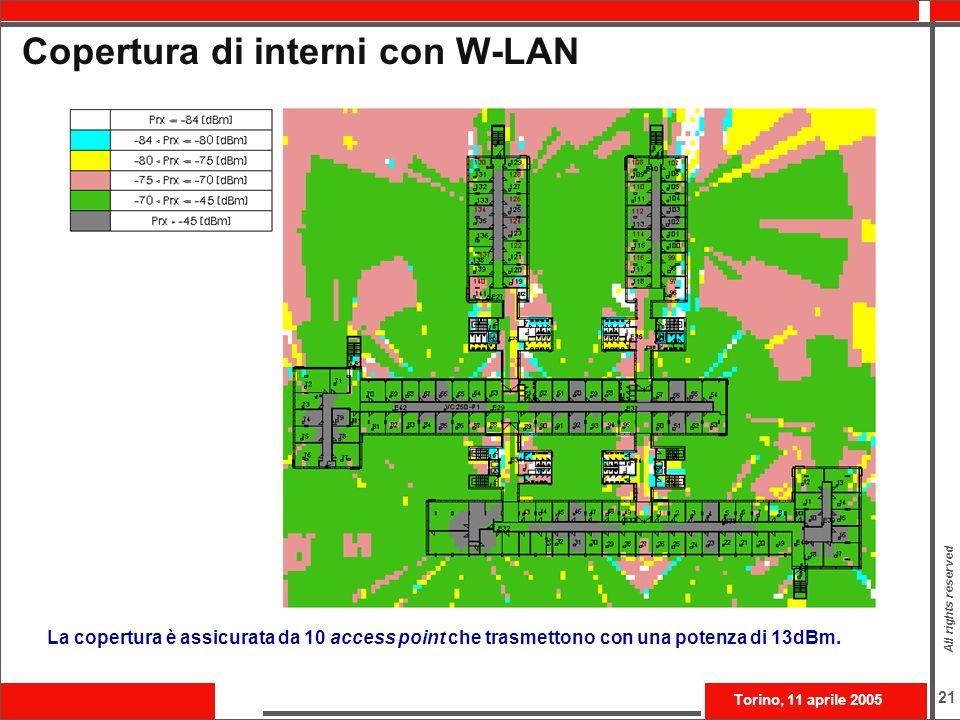 Copertura di interni con W-LAN