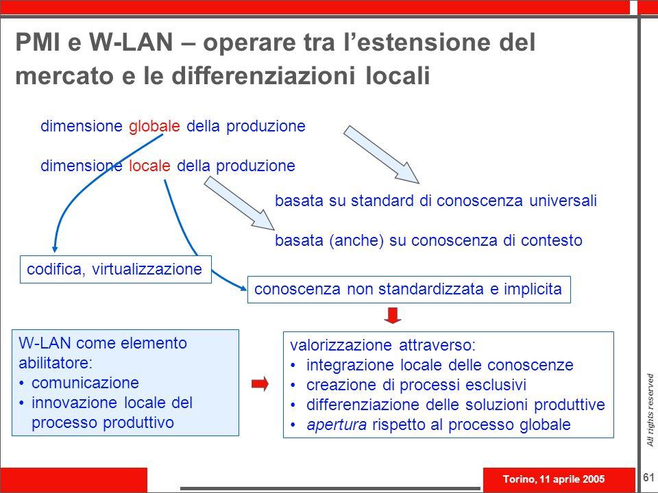 PMI e W-LAN – operare tra l'estensione del mercato e le differenziazioni locali