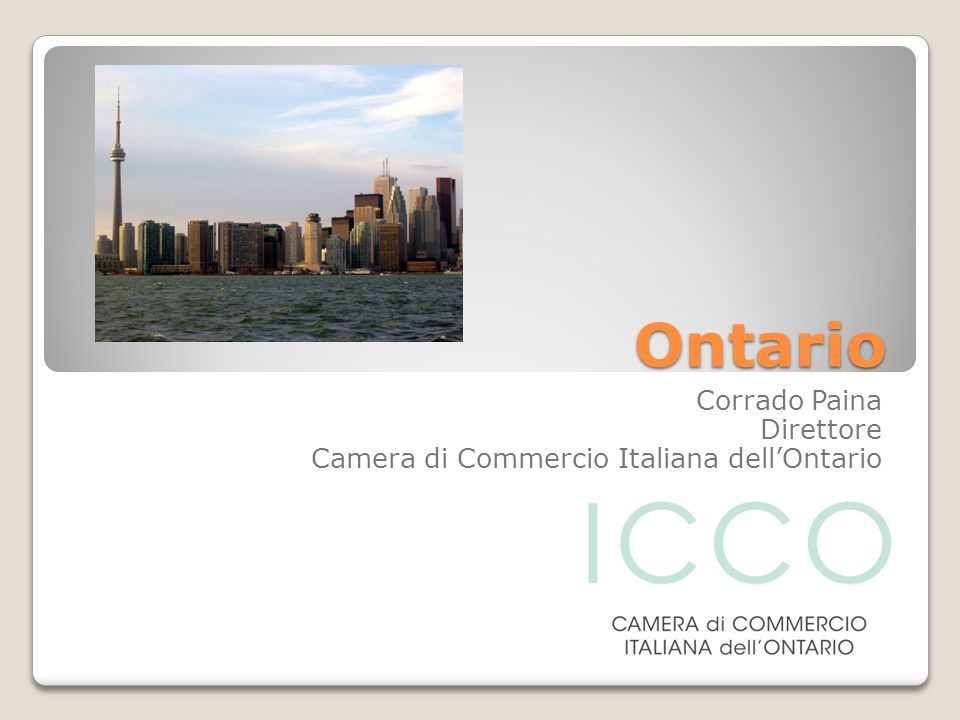 Corrado Paina Direttore Camera di Commercio Italiana dell'Ontario