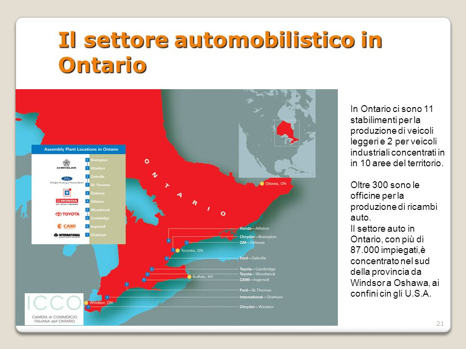 Il settore automobilistico in Ontario