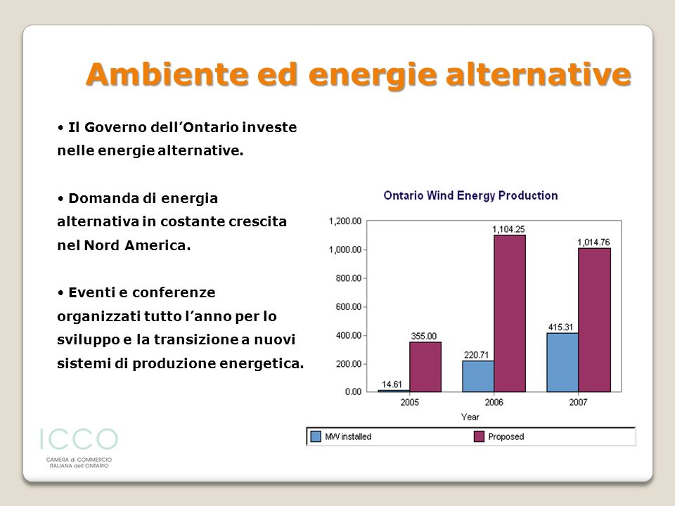 Ambiente ed energie alternative
