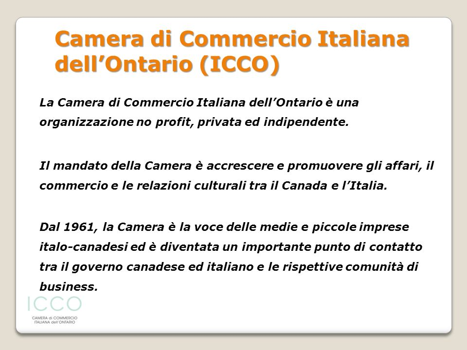 Camera di Commercio Italiana dell'Ontario (ICCO)