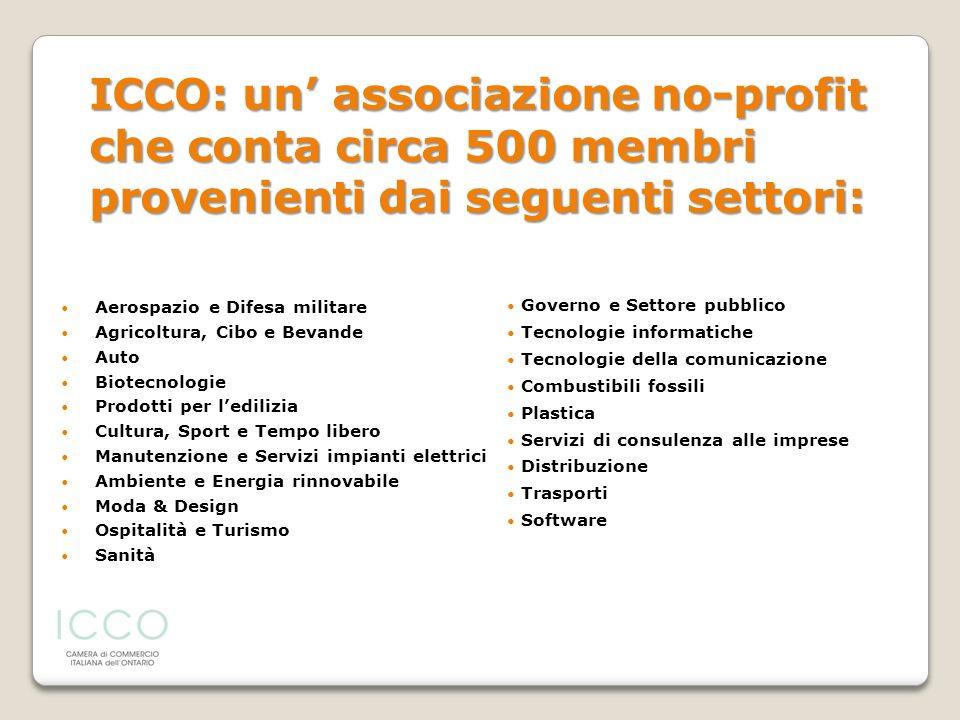 ICCO: un' associazione no-profit che conta circa 500 membri provenienti dai seguenti settori: