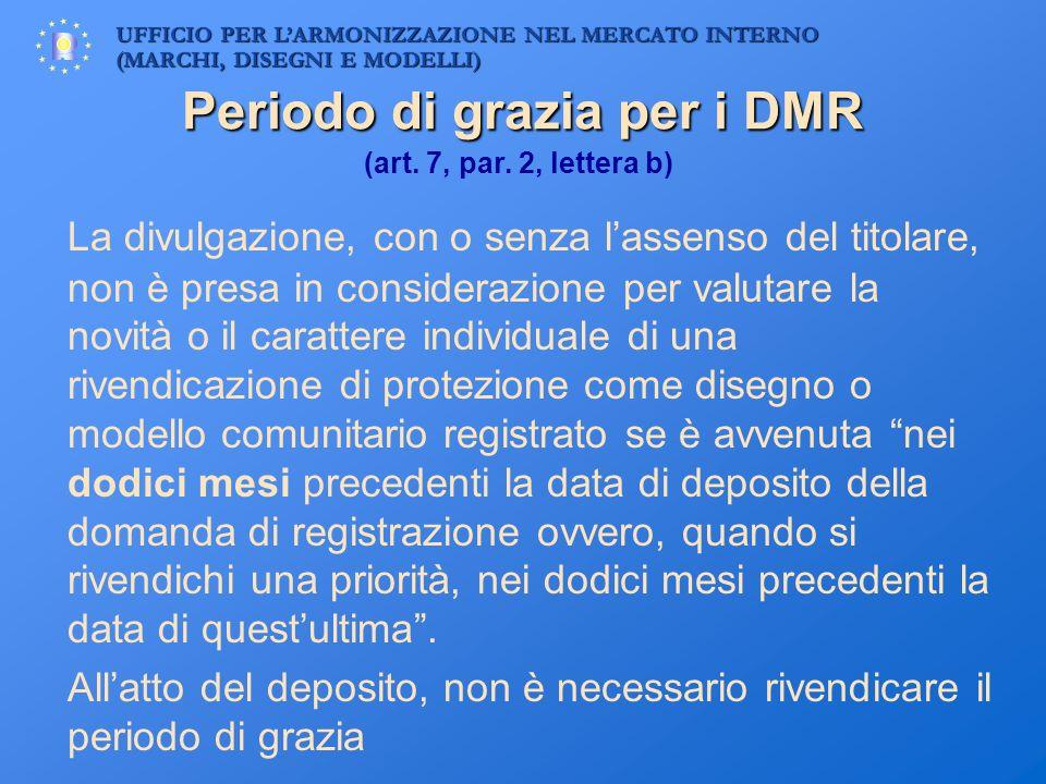 Periodo di grazia per i DMR