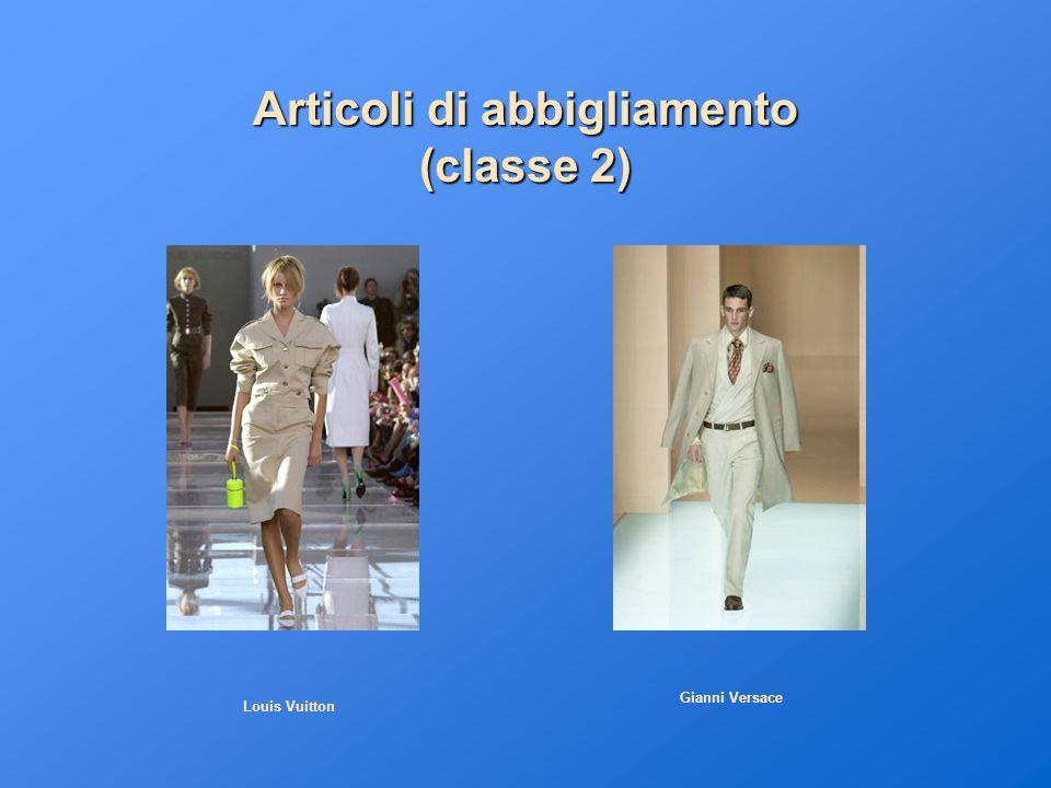 Articoli di abbigliamento (classe 2)