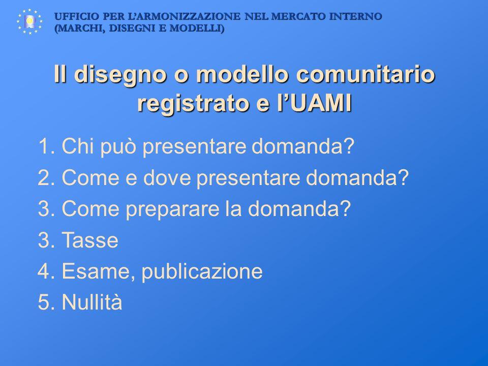 Il disegno o modello comunitario registrato e l'UAMI