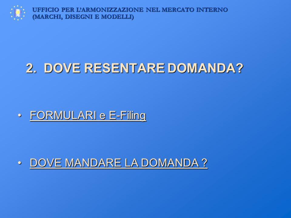 2. DOVE RESENTARE DOMANDA