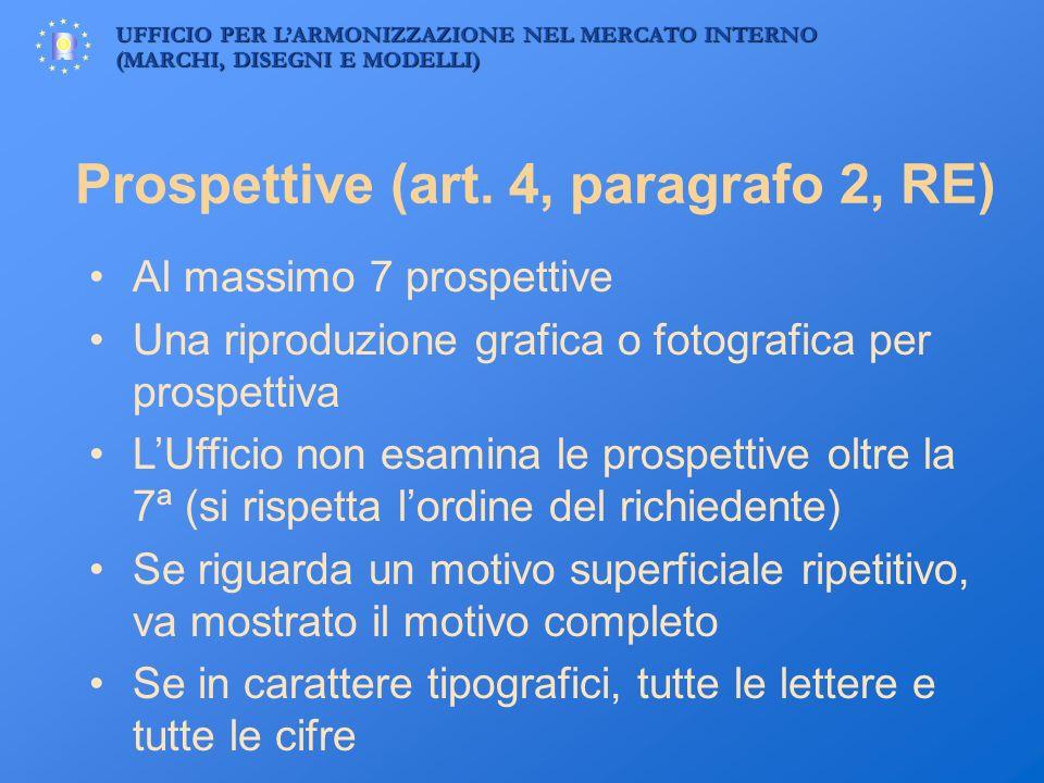 Prospettive (art. 4, paragrafo 2, RE)