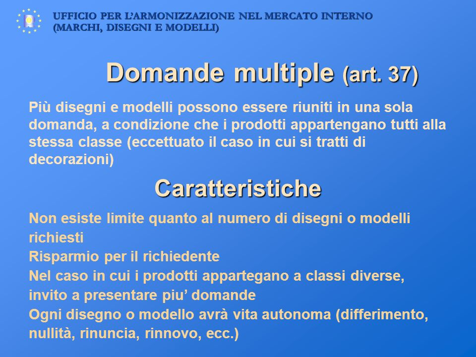 Domande multiple (art. 37)