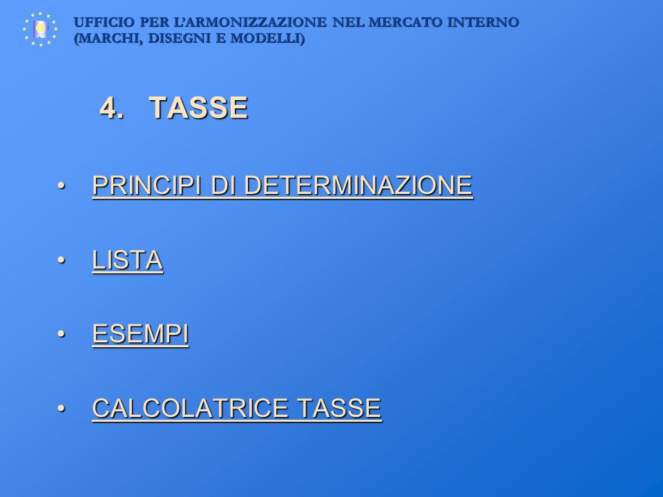 4. TASSE PRINCIPI DI DETERMINAZIONE LISTA ESEMPI CALCOLATRICE TASSE