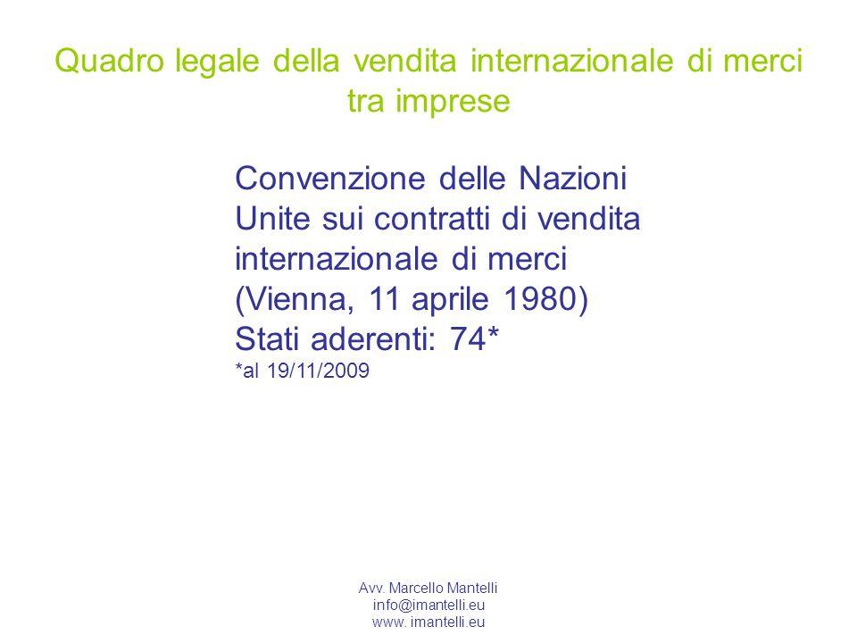Quadro legale della vendita internazionale di merci tra imprese