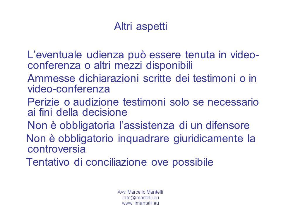 Ammesse dichiarazioni scritte dei testimoni o in video-conferenza