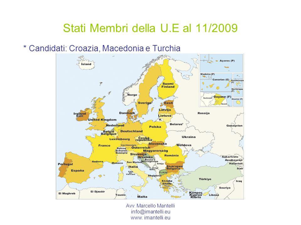 Stati Membri della U.E al 11/2009