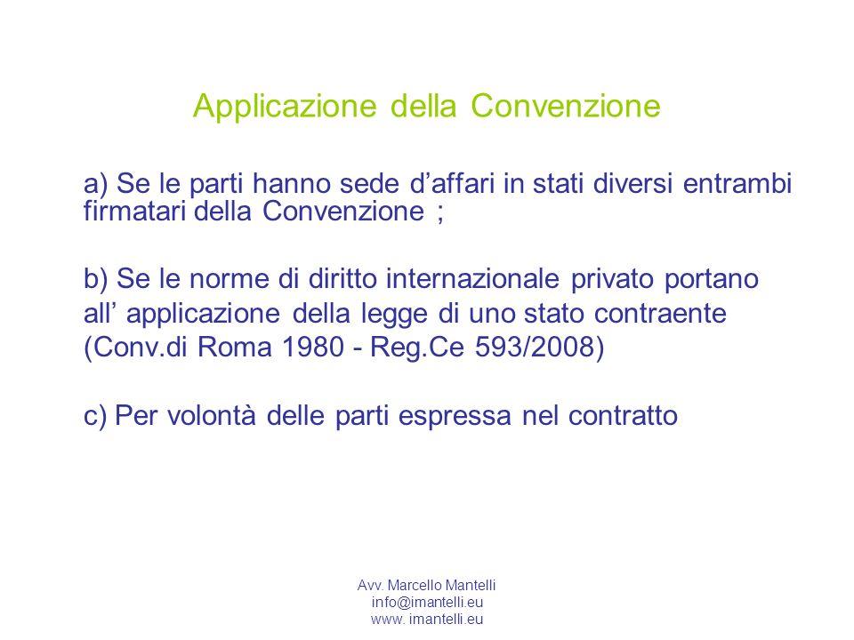 Applicazione della Convenzione