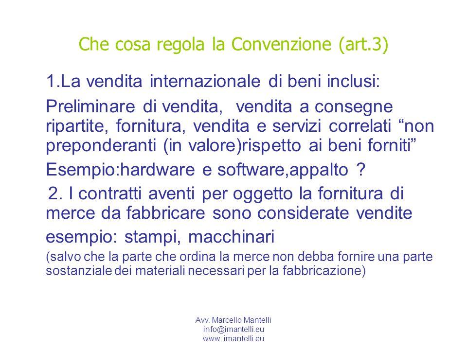 Che cosa regola la Convenzione (art.3)