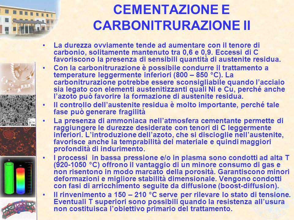 CEMENTAZIONE E CARBONITRURAZIONE II