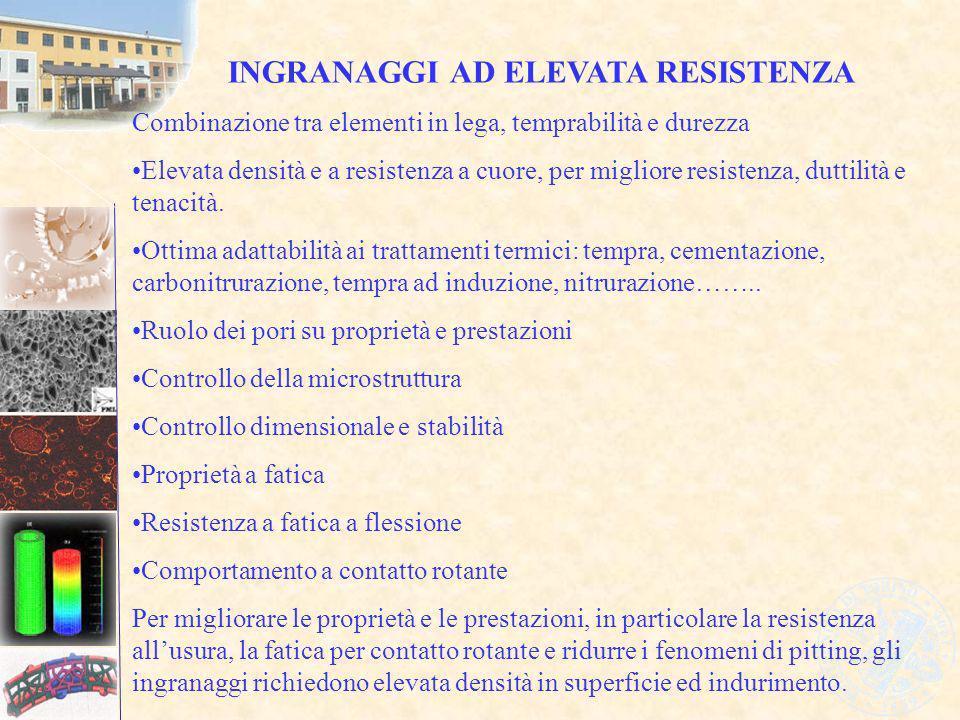 INGRANAGGI AD ELEVATA RESISTENZA