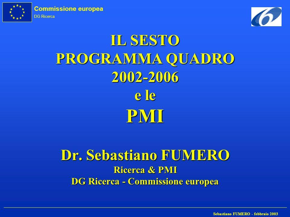 IL SESTO PROGRAMMA QUADRO 2002-2006 e le PMI Dr