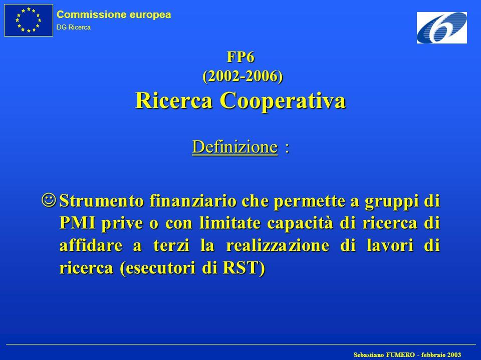 FP6 (2002-2006) Ricerca Cooperativa