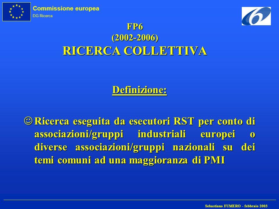 FP6 (2002-2006) RICERCA COLLETTIVA