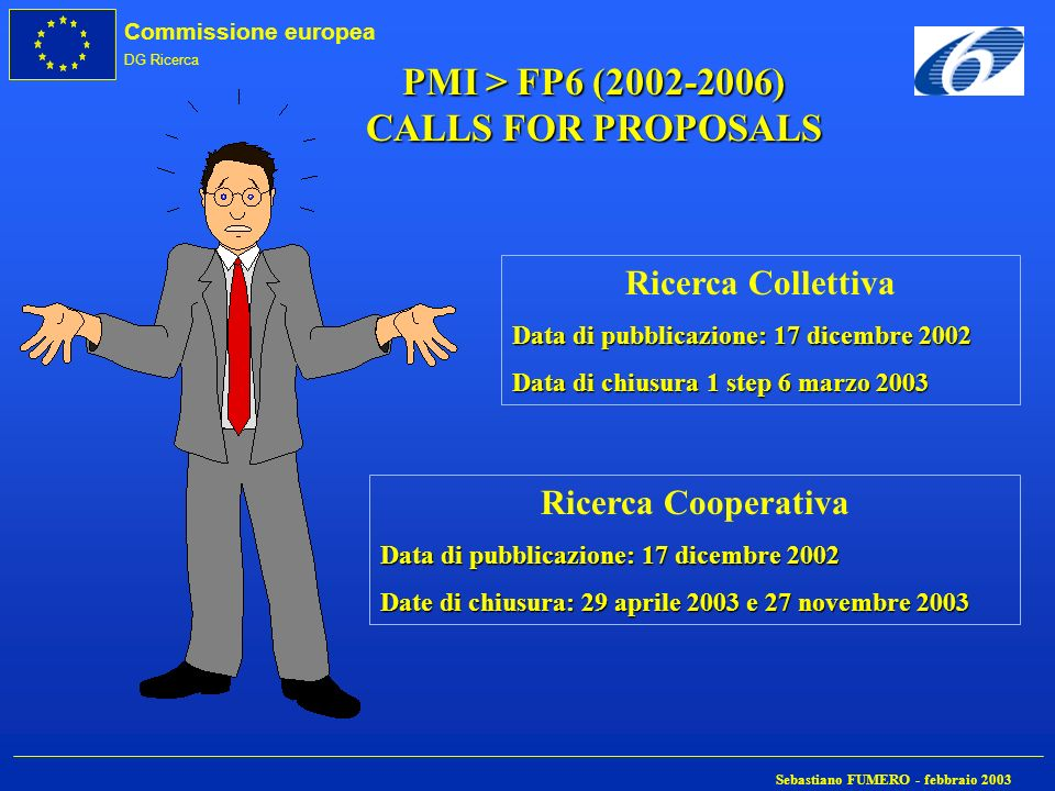 PMI > FP6 (2002-2006) CALLS FOR PROPOSALS
