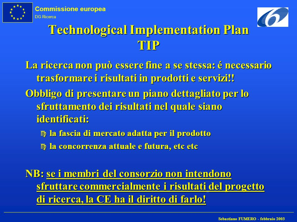 Technological Implementation Plan TIP
