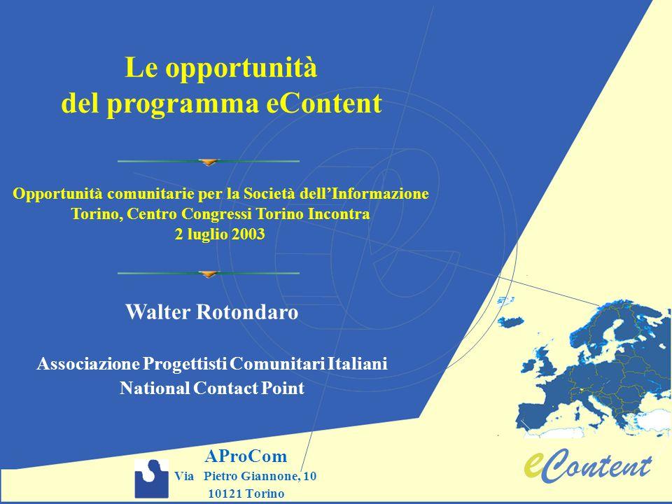 Le opportunità del programma eContent