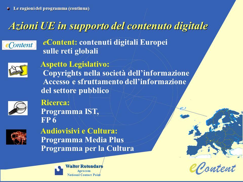 Azioni UE in supporto del contenuto digitale
