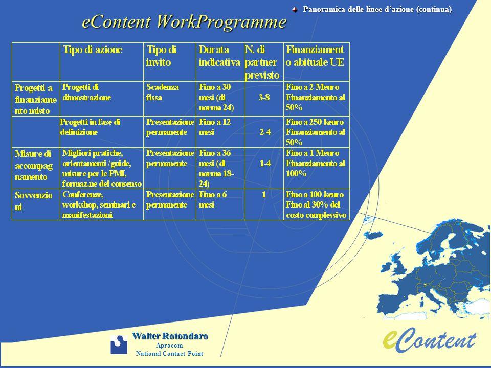 eContent WorkProgramme