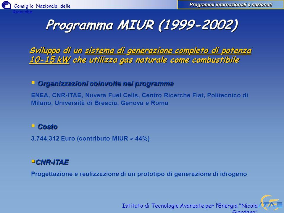 Programmi internazionali e nazionali