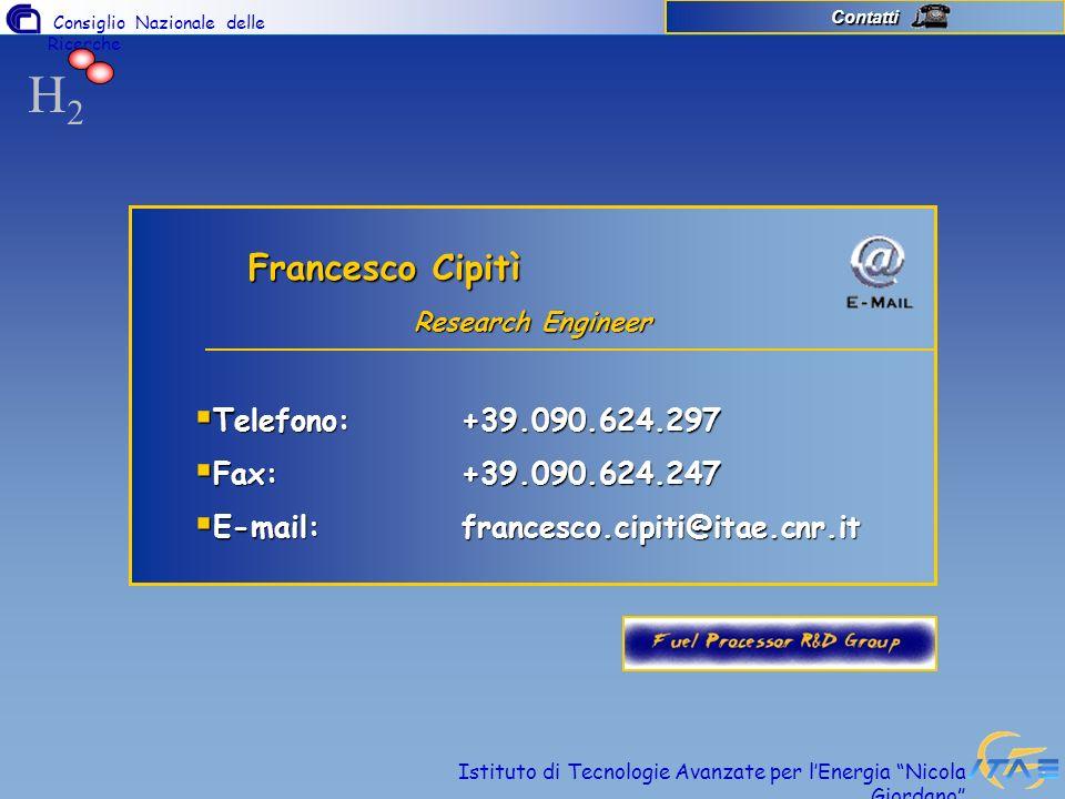 H2 Francesco Cipitì Telefono: +39.090.624.297 Fax: +39.090.624.247
