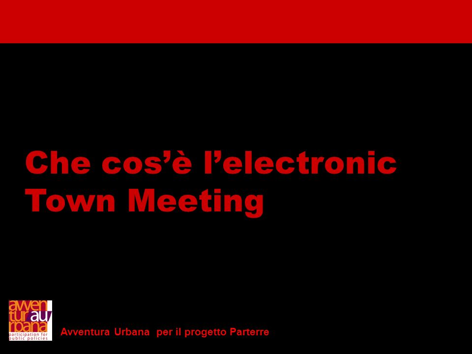 Che cos'è l'electronic Town Meeting