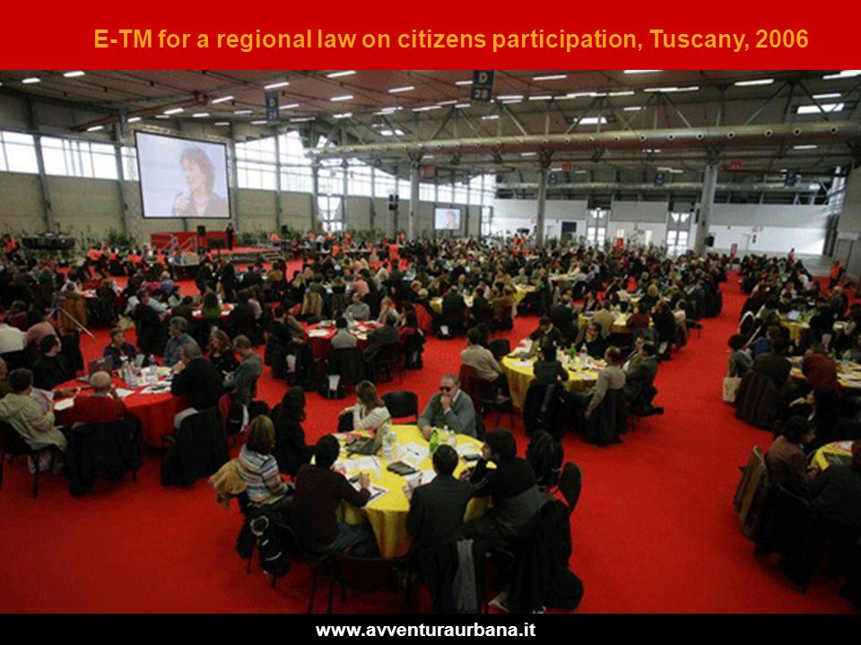 E-TM for a regional law on citizens participation, Tuscany, 2006