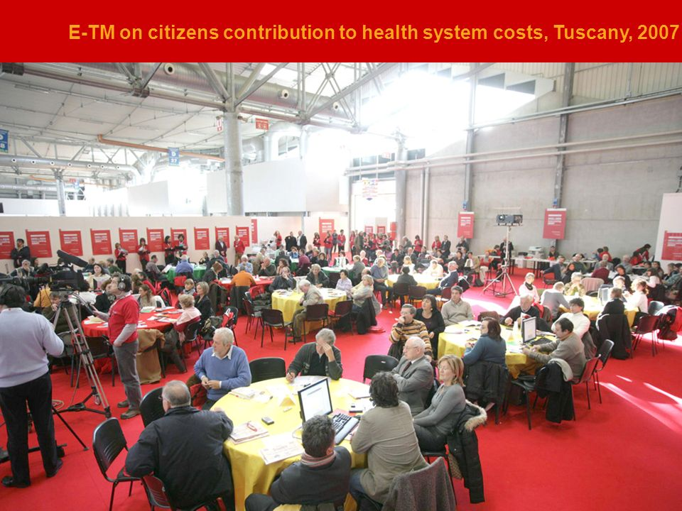 E-TM on citizens contribution to health system costs, Tuscany, 2007