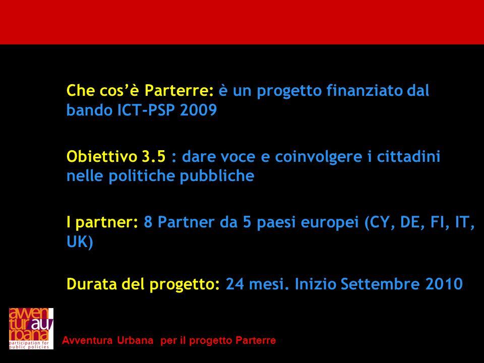 Che cos'è Parterre: è un progetto finanziato dal bando ICT-PSP 2009