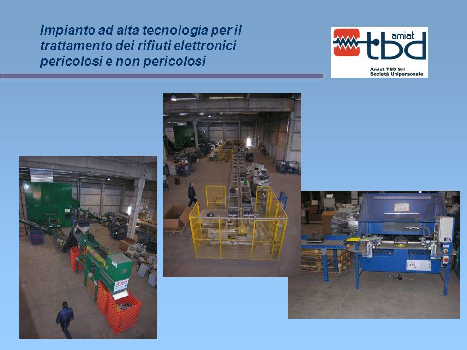 Impianto ad alta tecnologia per il trattamento dei rifiuti elettronici pericolosi e non pericolosi