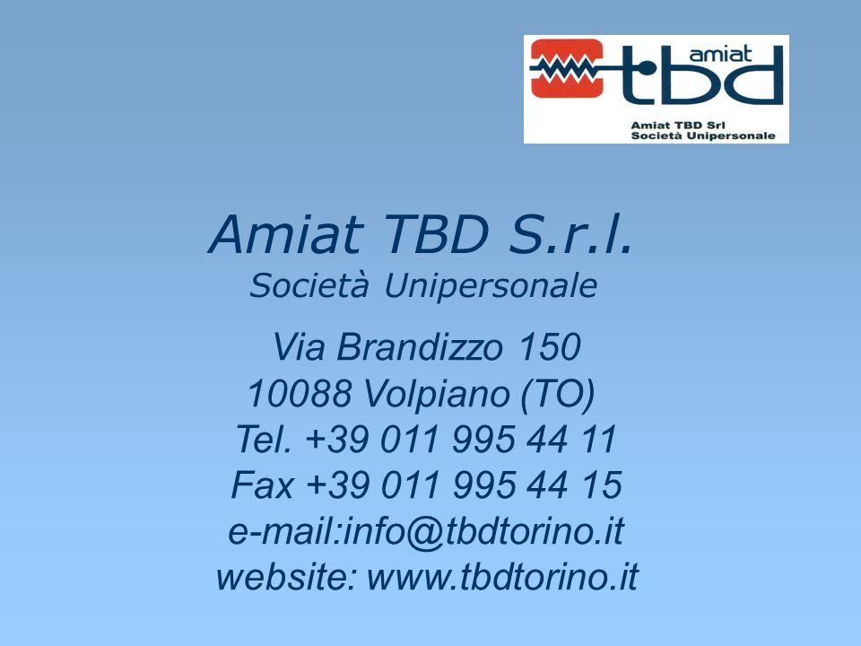 Amiat TBD S.r.l. Società Unipersonale