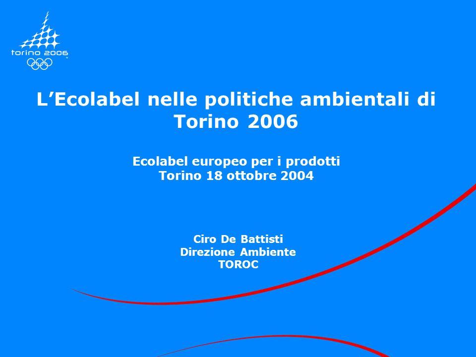 L'Ecolabel nelle politiche ambientali di Torino 2006