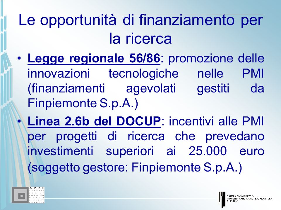 Le opportunità di finanziamento per la ricerca