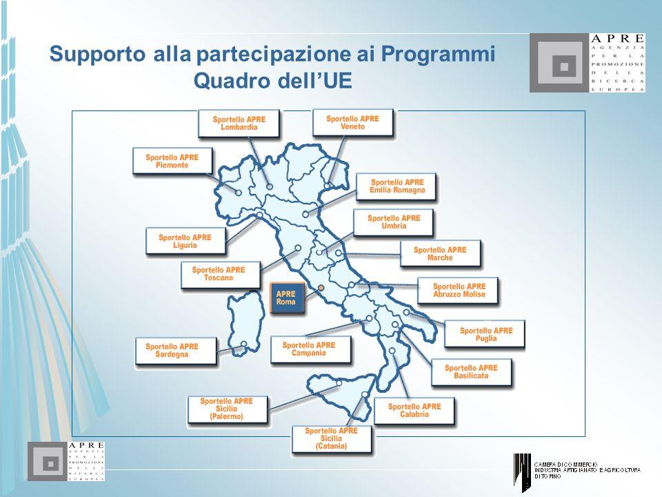 Supporto alla partecipazione ai Programmi Quadro dell'UE
