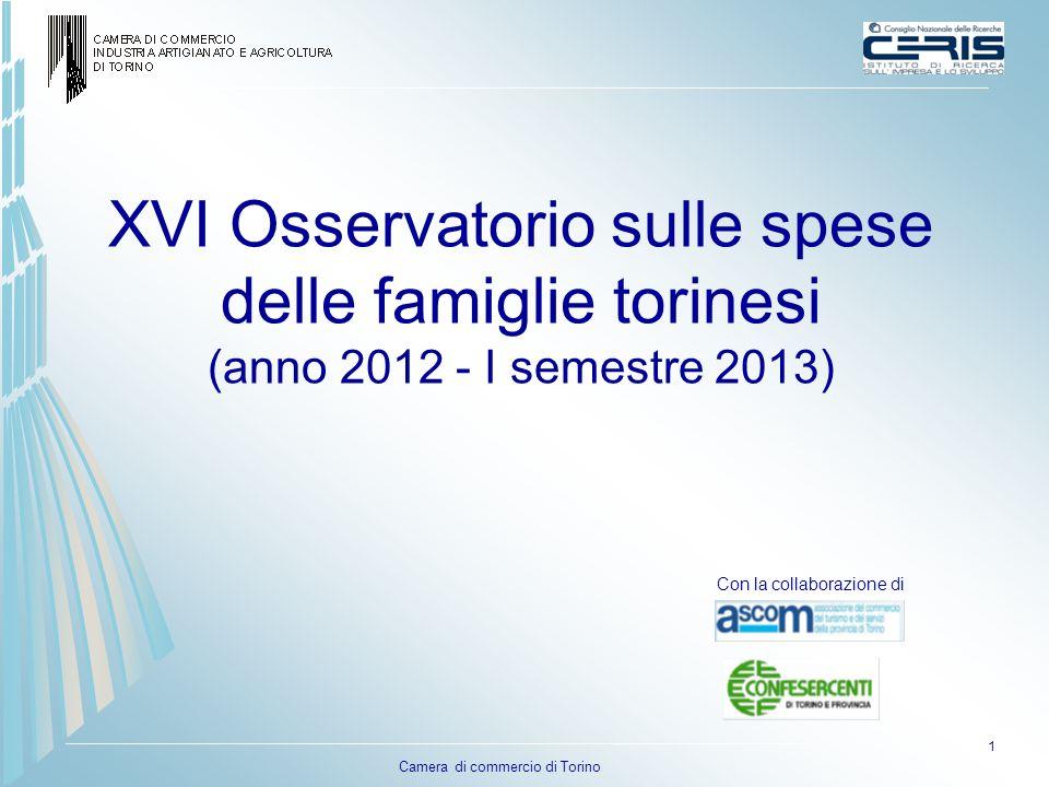 XVI Osservatorio sulle spese delle famiglie torinesi (anno 2012 - I semestre 2013)