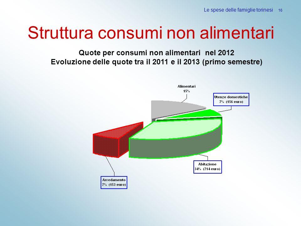 Struttura consumi non alimentari