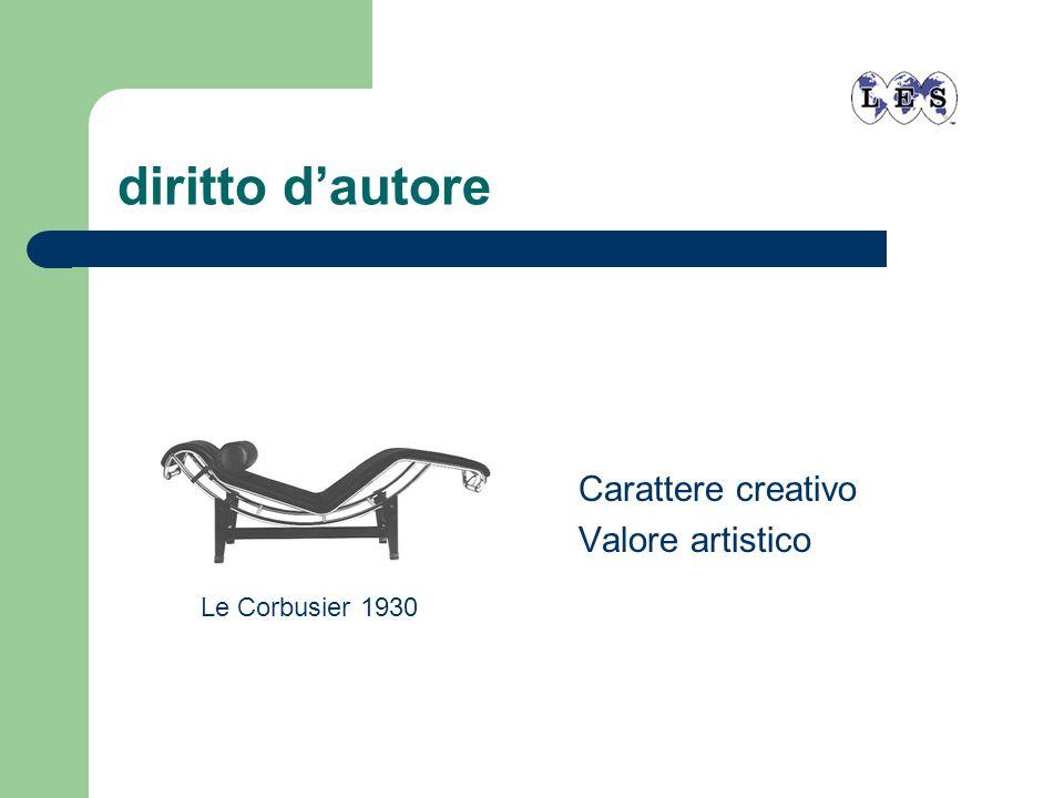 diritto d'autore Carattere creativo Valore artistico Le Corbusier 1930