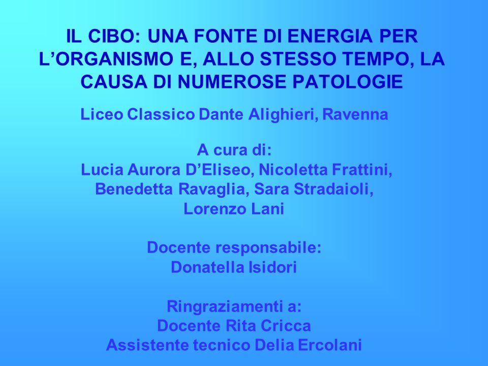 IL CIBO: UNA FONTE DI ENERGIA PER L'ORGANISMO E, ALLO STESSO TEMPO, LA CAUSA DI NUMEROSE PATOLOGIE