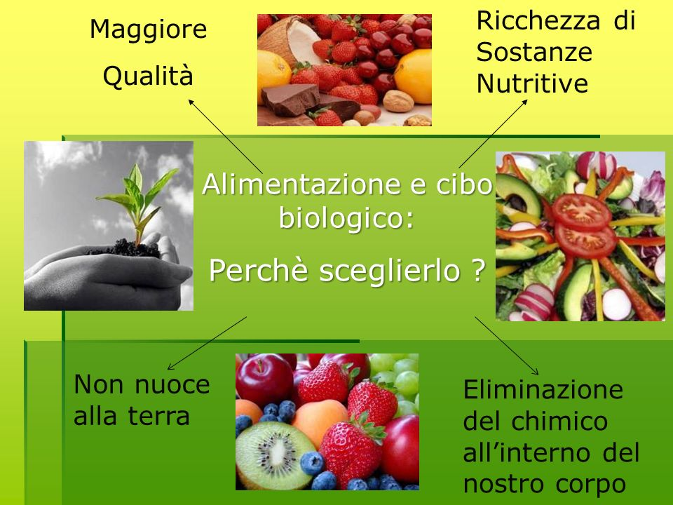 Alimentazione e cibo biologico:
