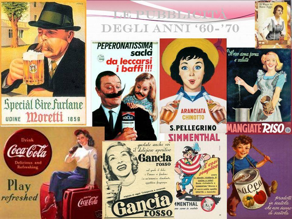 Le pubblicità degli anni '60-'70
