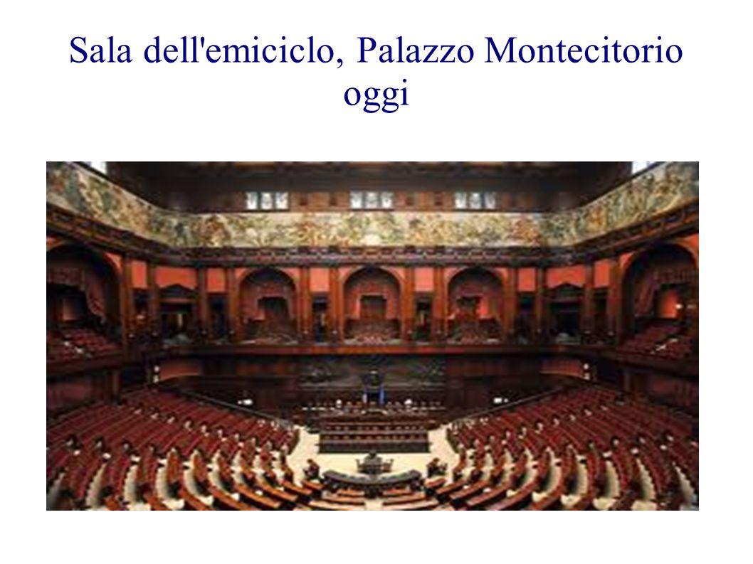 Sala dell emiciclo, Palazzo Montecitorio oggi