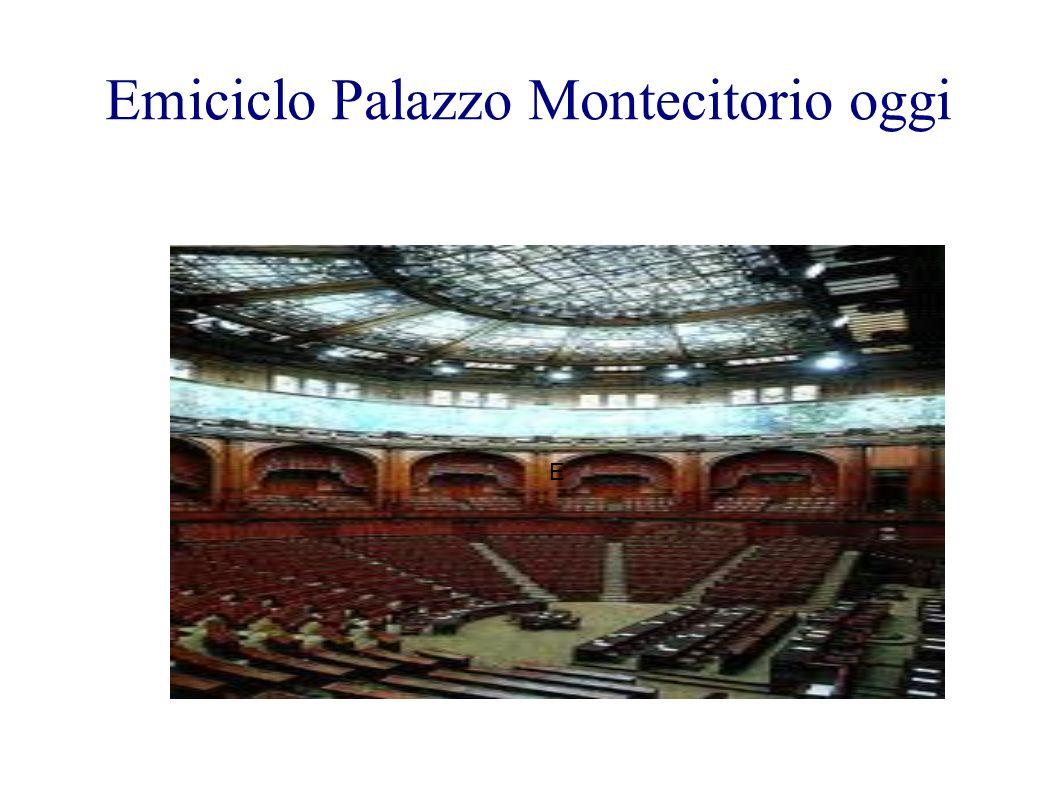 Emiciclo Palazzo Montecitorio oggi