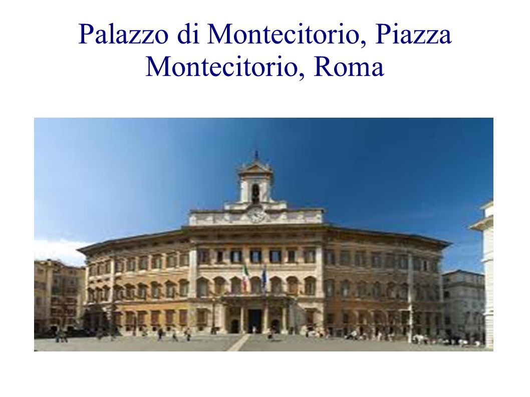 Palazzo di Montecitorio, Piazza Montecitorio, Roma