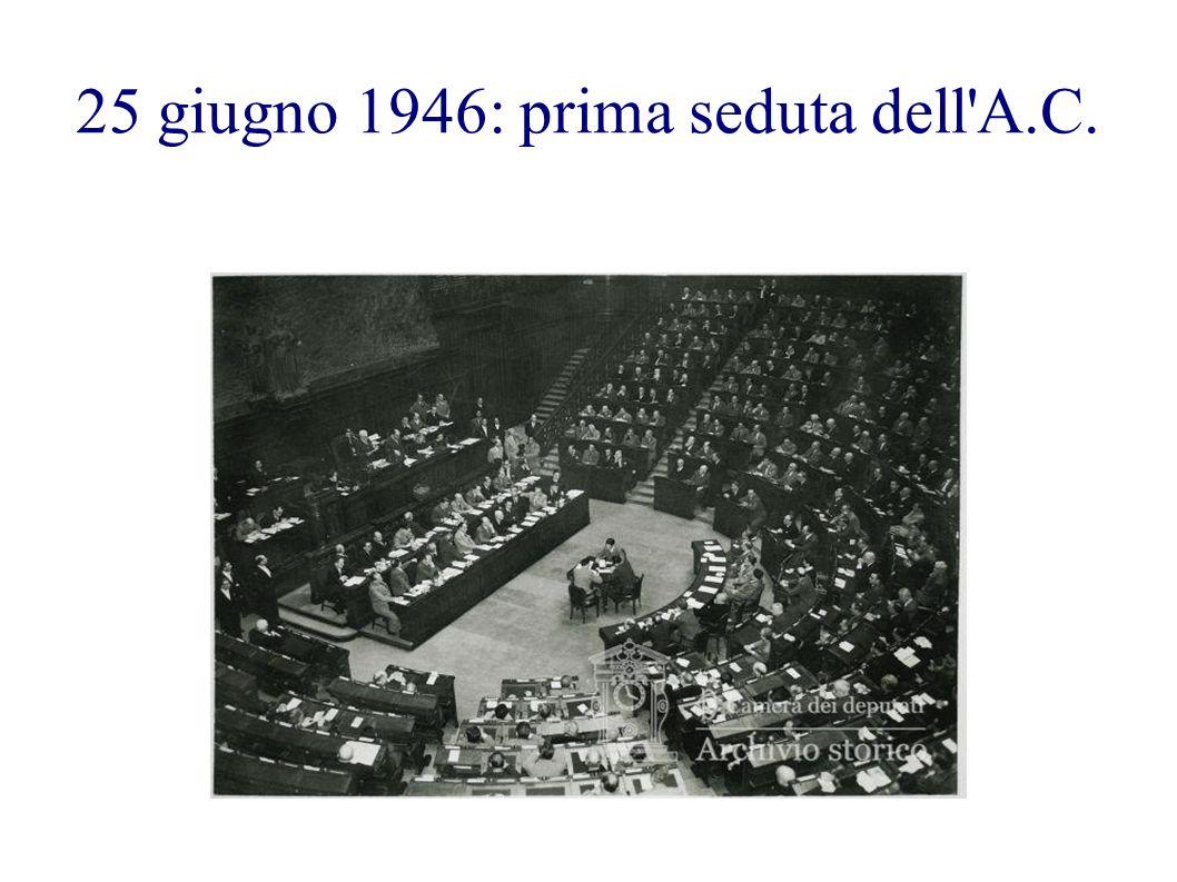 25 giugno 1946: prima seduta dell A.C.